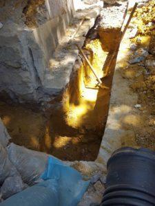 scavo tratto fognatura autospurgo roma